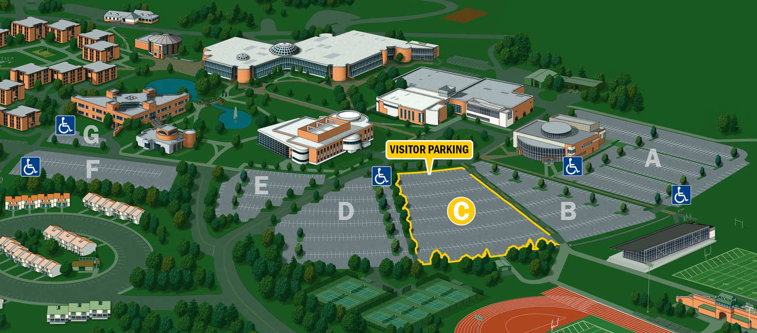 Visitor Parking Lot C Bryant University Campus Map