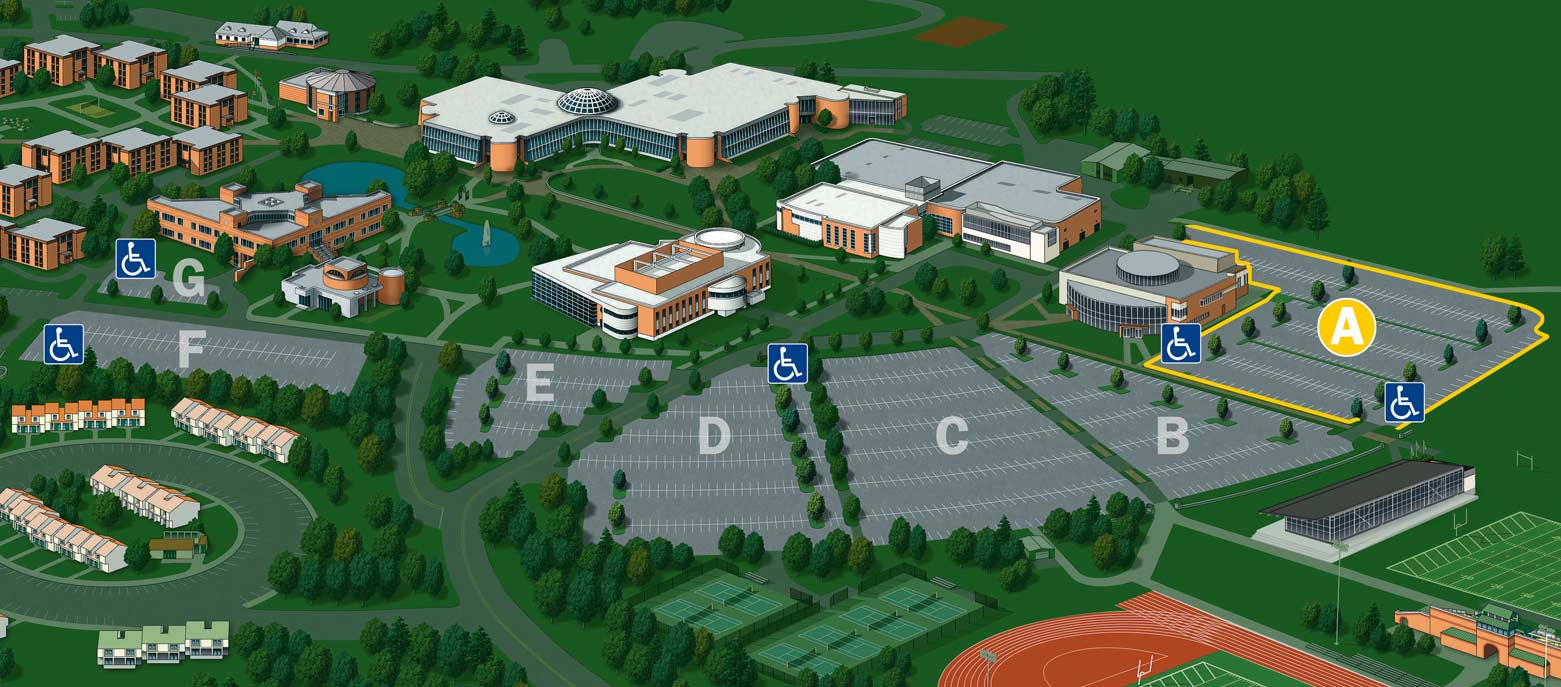 General Parking (Lot A) – Bryant University Campus Map