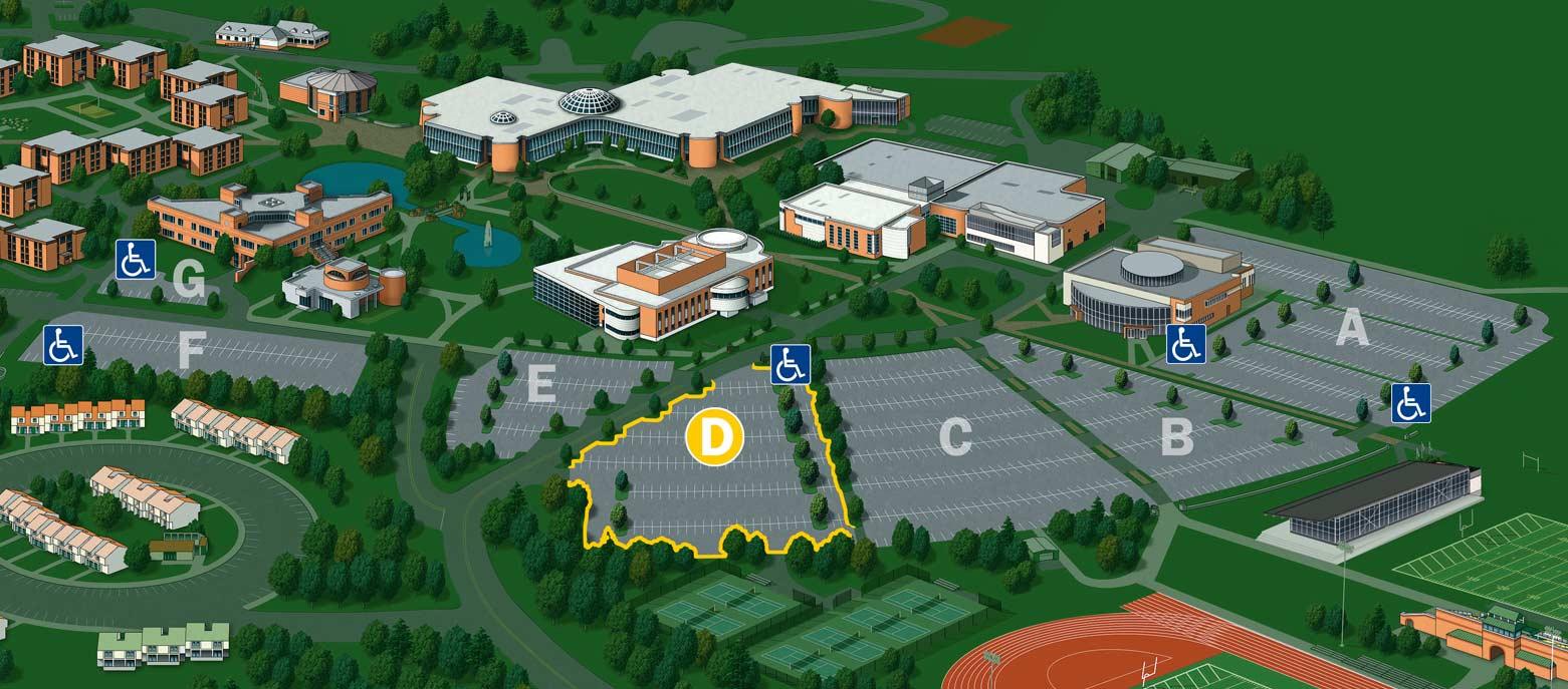 General Parking (Lot D) – Bryant University Campus Map