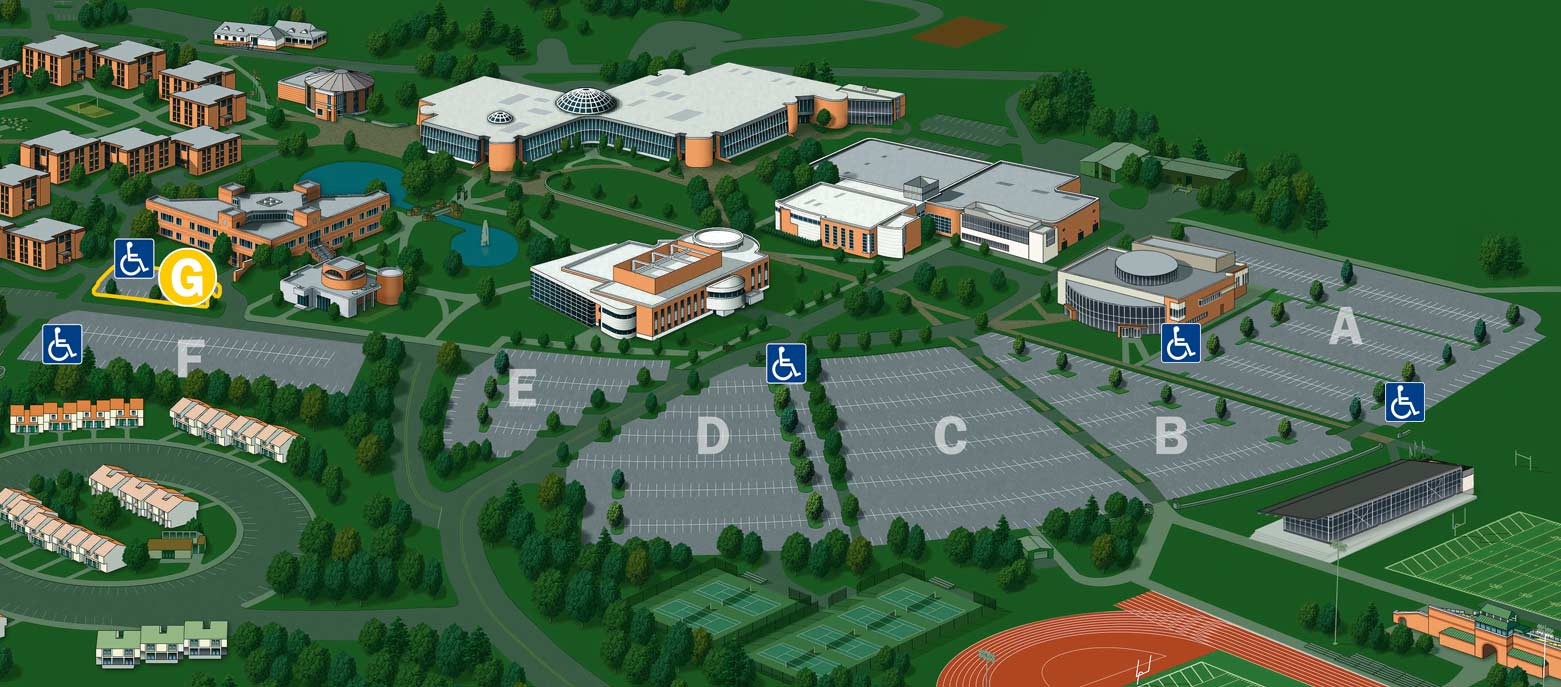 General Parking (Lot G) – Bryant University Campus Map